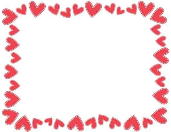 רקע אדום עם לבבות אדומים