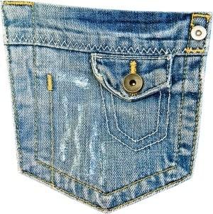 ג'ינס עם כפתור
