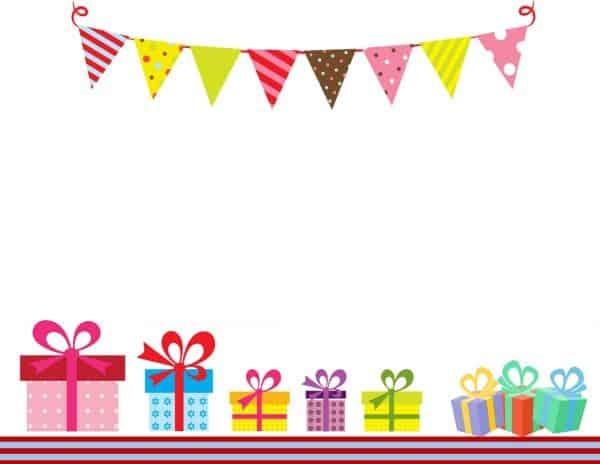 מסגרת לברכה ליום הולדת