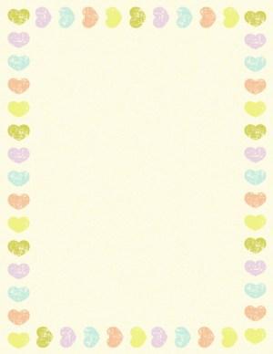 רקע צהבהב עם לבבות צבעוניים