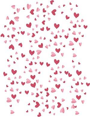 לבבות אדומים וורודים