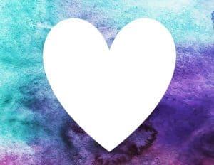 רקע יפה עם לב לבן