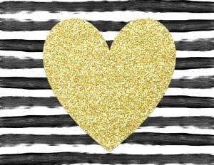 פסים בשחור ולבן עם לב זהב