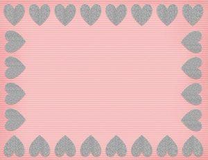 רקעים עם לבבות