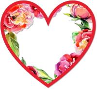 לב פרחוני