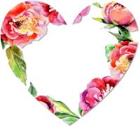 מסגרת פרחים מסביב ללב
