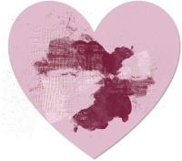לב ורוד עם צבע