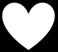 לב לבן עם רקע בכל צבע